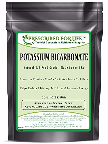 Potassium Bicarbonate - Natural USP Food Grade Crystalline Powder - 39% K, 50 lb by Prescribed For Life