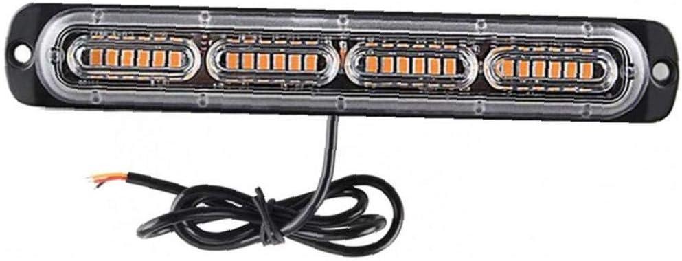 Adore store Led Luces marcadoras Laterales, Reshieldy Coche 12V 24V LED Barra de iluminación, Avería LED Amarillo Intermitente de Emergencia Strobe Lights Accesorios para el Coche