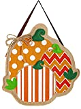 Cheap Evergreen Flag & Garden 2DHB1003 Pumpkin Trio Burlap Door Decor, Multicolored