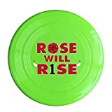 SYYFB Unisex Rose Will R1se Basketball Player Outdoor Game Frisbee Sport Disc KellyGreen