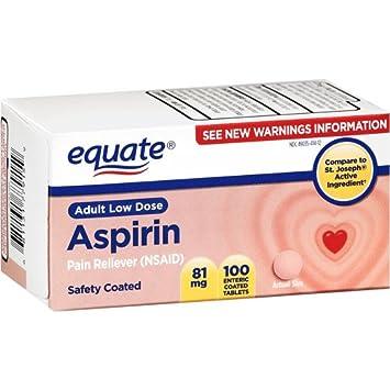 Amazon.com: Equate - Aspirin 81 mg, Adult Low Dose, Aspirin ...