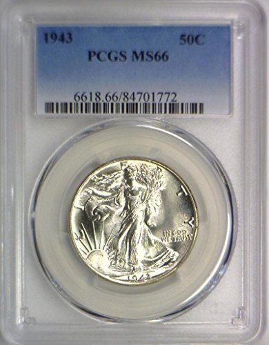 1943 P Walking Liberty Half Dollar MS-66 PCGS