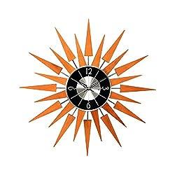 George Nelson Wooden 19.375 in. Sunburst Wall Clock