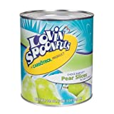 Lovin Spoonfuls Pear Slices in Light Syrup, 104 Ounce -- 6 per case.