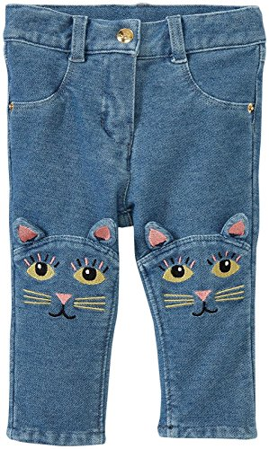 Price comparison product image Little Marc Jacobs Trousers with Embroidered Funny Cats,  Denim Blue,  6M
