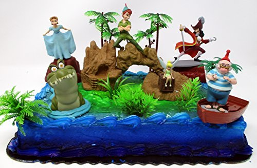 Awesome Peter Pan Deluxe Birthday Cake Topper Set Featuring Peter Pan Personalised Birthday Cards Beptaeletsinfo