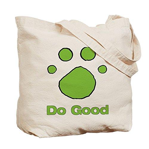 CafePress–hacer el bien brillante verde–gamuza de bolsa de lona bolsa, bolsa de la compra