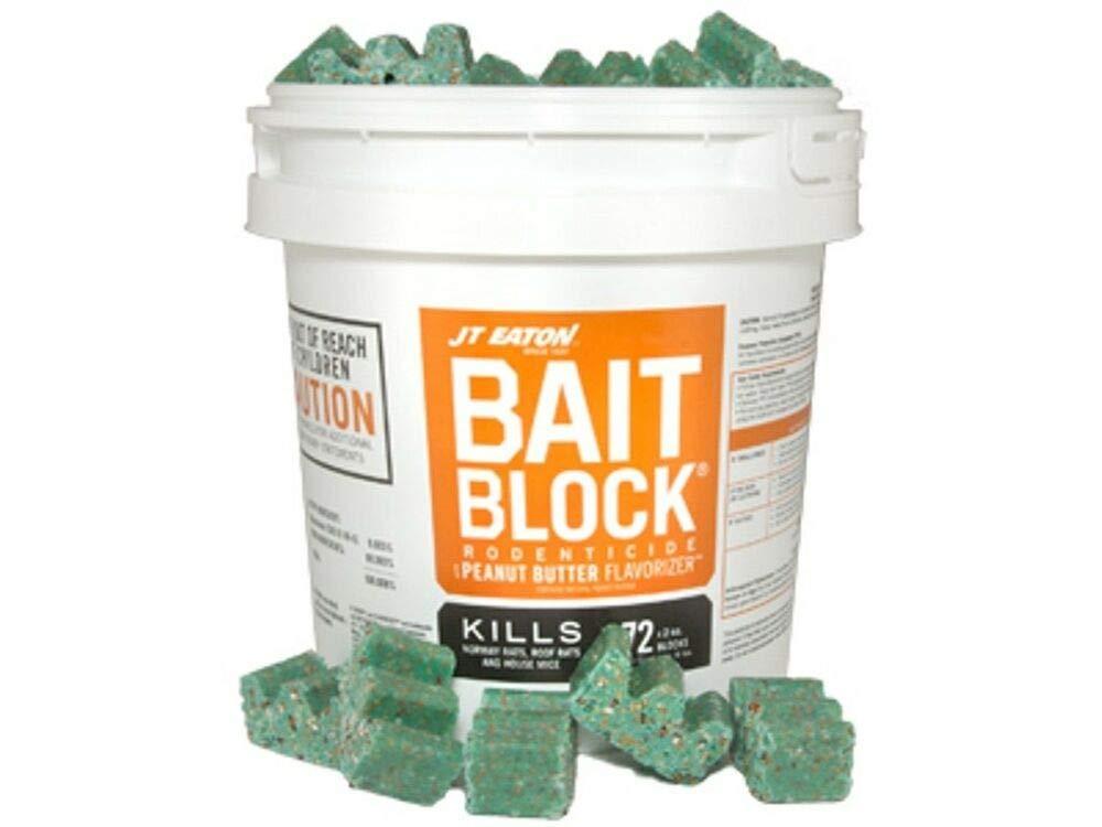 JT Eaton Bait Block Rodenticide Anticoagulant Bait, Pail of 144, 1oz. Blocks, Rat and Rodent Poison by Quality Chemical