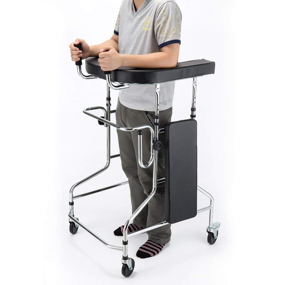 Aluminum Alloy Folding Walker with Armrest Pad and Wheel Limited Movement Aid for Elderly Disabled Persons with Standard Walker Auxiliary Walking Safety Walker by YL WALKER (Image #6)