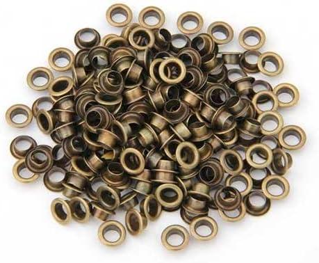 Ecloud Shop/® 2 Pieces x 200 Oeillet en M/étal Couleur Bronz/é 10mm Pr Sac Ceinture