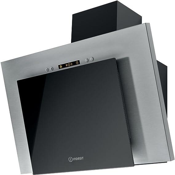 Indesit IHVP 6.4 AL K - Campana (400 m³/h, Canalizado/Recirculación, F, F, G, 60 dB): Amazon.es: Hogar