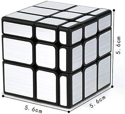 1yess Espejo sensación Suave Cubo de Rubik for Principiantes Ajustable Elasticidad de Anti-Mosca Tarjeta ángulo Cubo mágico Juego Nuevo Velocidad del Rompecabezas del Cubo mágico Juguete for niños: Amazon.es: Juguetes y juegos