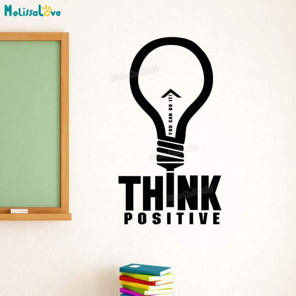 zhuziji Etiqueta de la Pared de Vinilo Think Positive You Do Do ...