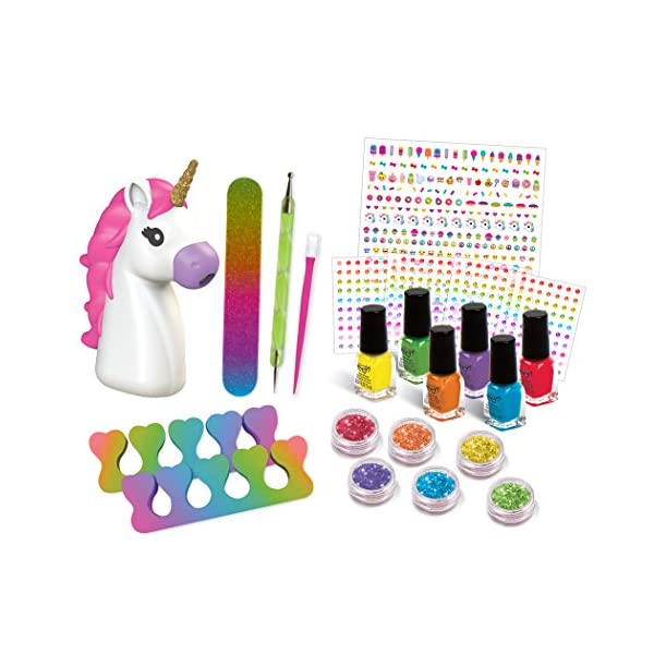 Fashion Angels 12180 Unicorn Dreams Nail Design Super Set Toy (Over 650 Piece), Assorted, Pack of 1 3
