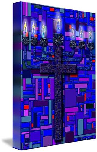 Wall Art Print entitled Menorah Cross by Douglas Christian Larsen | 33 x 48 by Imagekind