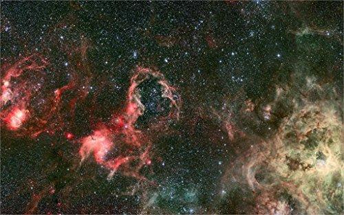 Makeuseof Universe Space Sight Nebula Stars Light Year Dark Matter Eternity Galaxy Worlds Infinity 4 Home Decoration Canvas Poster Print