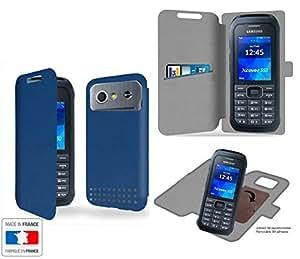 Funda Carcasa Samsung Xcover 550 Bleu Marine Collection Exception de almacenamiento innovadoras con tarjeta de la puerta interna - Estuche protector de Samsung Xcover 550 con fijación adhesiva reposicionable 3M