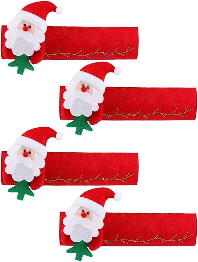 Navidad Refrigerador Manija de Puerta Cubiertas Horno de Microondas Lavavajillas Electrodomésticos de Cocina Guantes de Protección Porta Paño Protector Pack 4pcs