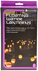 THUMBS UP Thumbsup UK, Water Lanterns, Pack of 10