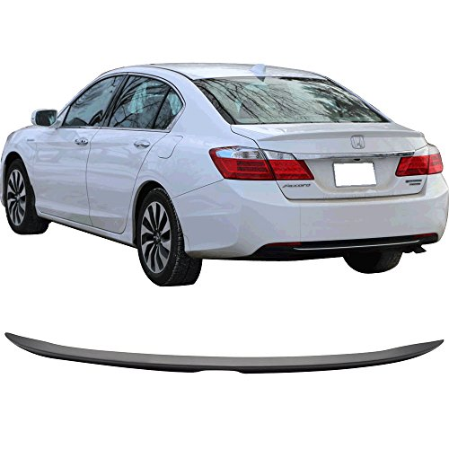 Trunk Spoiler Fits 2013-2016 Honda Accord | Factory Style Unpainted ABS Trunk Boot Lip Spoiler Wing Deck Lid Other Color Available By IKON MOTORSPORTS | 2014 - Accord Honda Deck