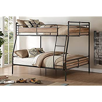 Amazon Com Major Q Metal Tube Supported Fullxl Queen Bunk Bed With