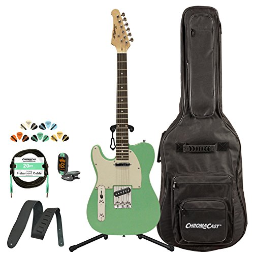 - Sawtooth ST-ET50-LH-SGRW-KIT-1 Classic ET 50 Ash Body Left-Handed Electric Guitar - Surf Green with Gig Bag, Cable, Picks, Strap, Tuner and Stand