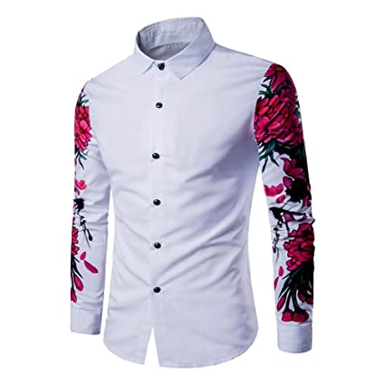 Amazon.com: Camisa de vestir para hombre Fall Winter Formal ...