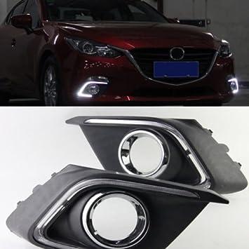 2x White For Mazda 3 Axela 2014-2015 Tube LED Daytime Day Fog Light DRL Run lamp