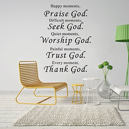 Lankey-Wall-Vinyl-Decal-Quote-Sign-Christian-Praise-God-DIY-Art-Sticker-Home-Wall-Decor