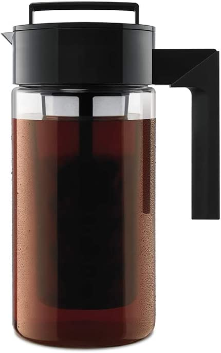 Takeya Patented Deluxe Cold Brew Coffee Maker, One Quart, Black   Amazon