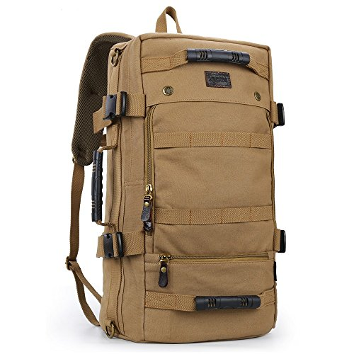 XINCADA Travel Backpack Canvas Backpacks Hiking Daypacks Vintage Rucksack Outdoor Sports Camping Bags for Men