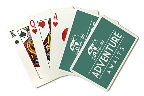 Squam Lake, New Hampshire - Adventure Awaits - Retro Camper - Simply Said (Playing Card Deck - 52 Card Poker Size with Jokers) by Lantern Press