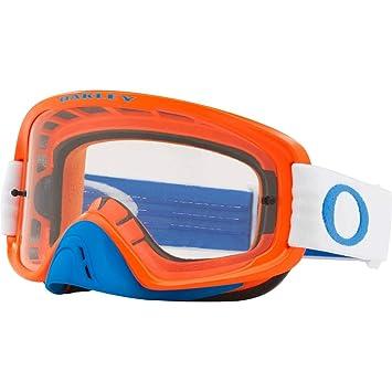 8b4e892a4a Amazon.com  Oakley O Frame 2.0 MX Adult Off-Road Motorcycle Goggles - Blue  Orange Clear   Dark Grey  Clothing