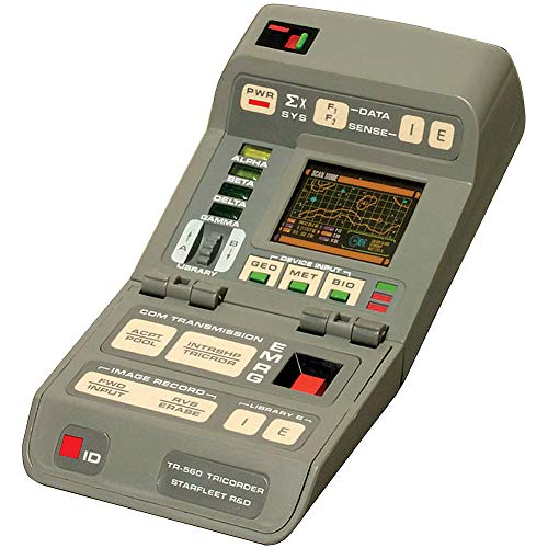 Star Trek Tricorder with Light and Sound - Licensed Collectible w/ 48 Page Book (Tricorder Star Trek)