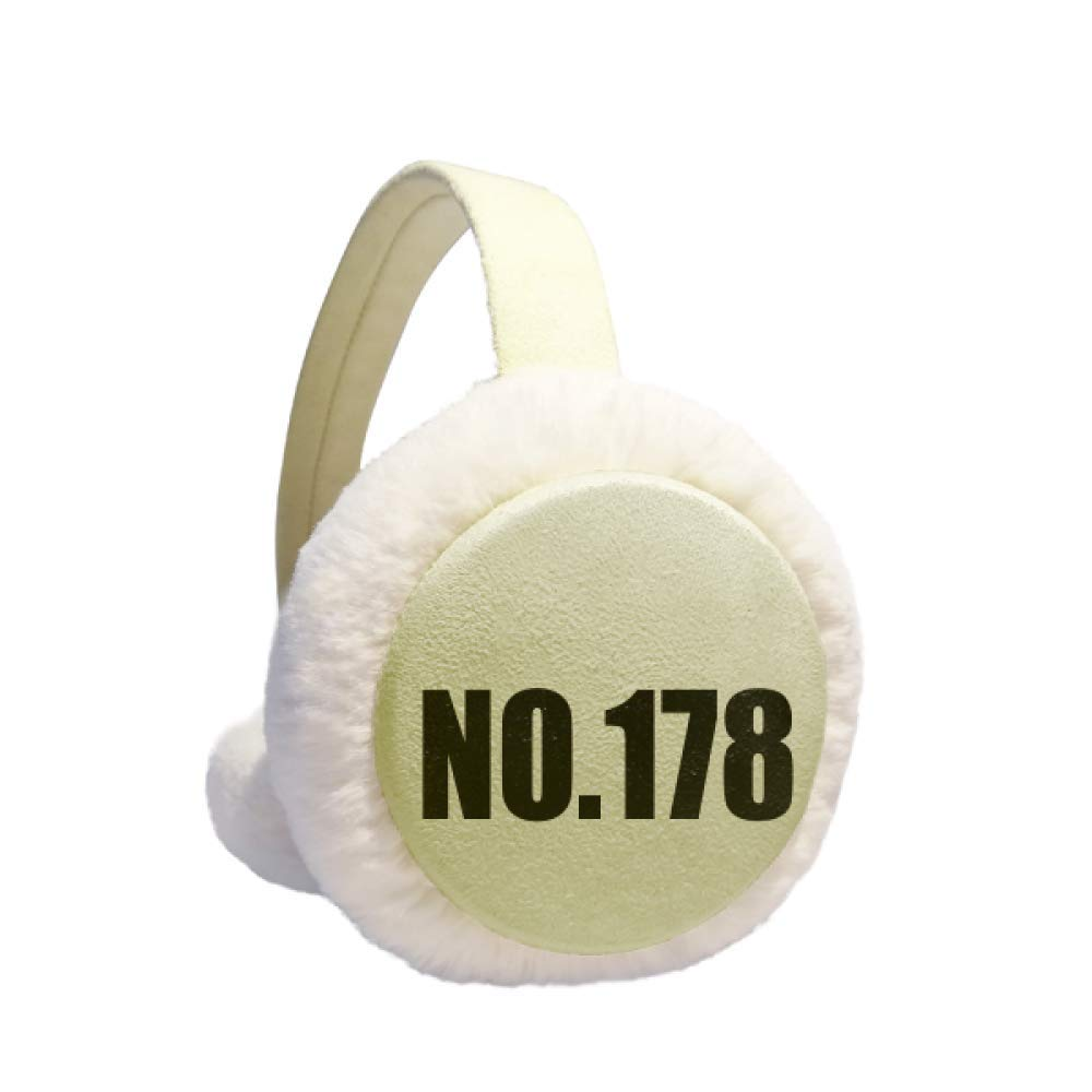 Lucky No.178 Number Name Winter Warm Ear Muffs Faux Fur Ear