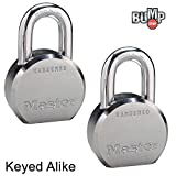 Master Lock - (2) High Security Pro Series Keyed Alike Padlocks 6230NKA-2 w/ BumpStop Technology