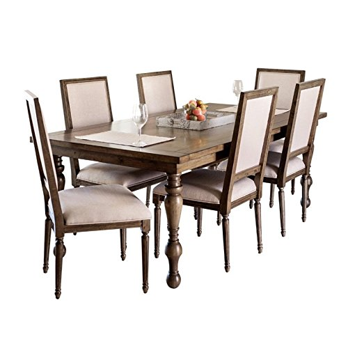 Abbyson Living Westley 7 Piece Dining Set in Brown