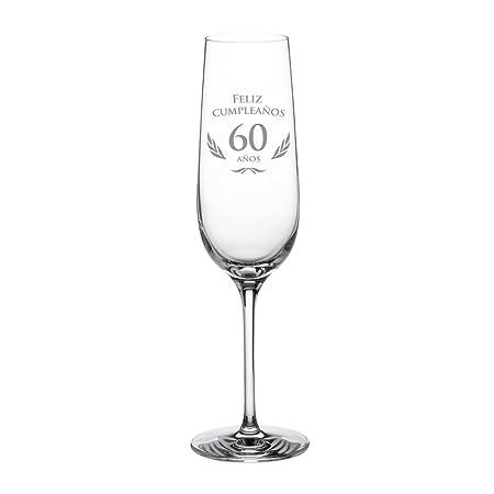 AMAVEL - Copa de Cava para Cumpleaños - 60 Cumpleaños - con ...