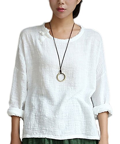 Soojun Womens Sleeve Linen Blouses