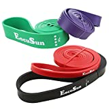 EocuSun Resistance Band Exercise Workout Bands Set of 4 Assisted Pull Up Bands for Powerlifting Crossfit Body Stretching and Resistance Training Fitness Bands Resistance Suitable for Men&Women Review