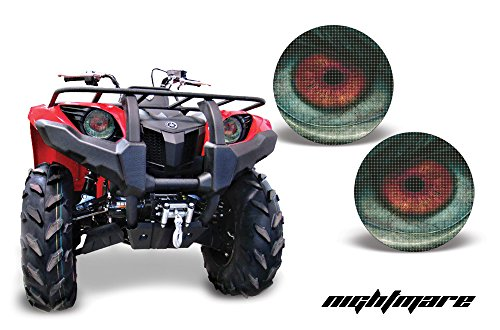 AMR Racing ATV Headlight Eye Graphic Decal Cover for Yamaha Grizzly 660/450/400/350/125 - Nightmare (Atv Accesory compare prices)