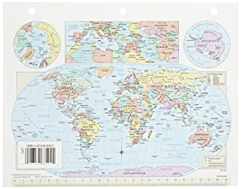 Amazoncom Nystrom Cram USWorld Notebook Maps X Inch - 8 1 2 x 11 us map