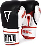 TITLE Gel Intense Bag Gloves, Black/White, 16-Ounce