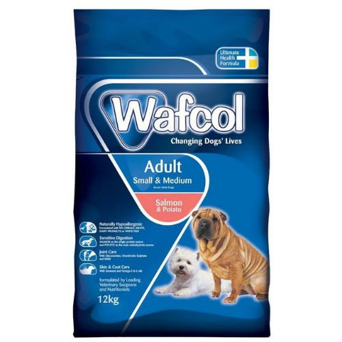 Wafcol Adult Salmon and Potato Small Med Breed Dogs Food 12kg