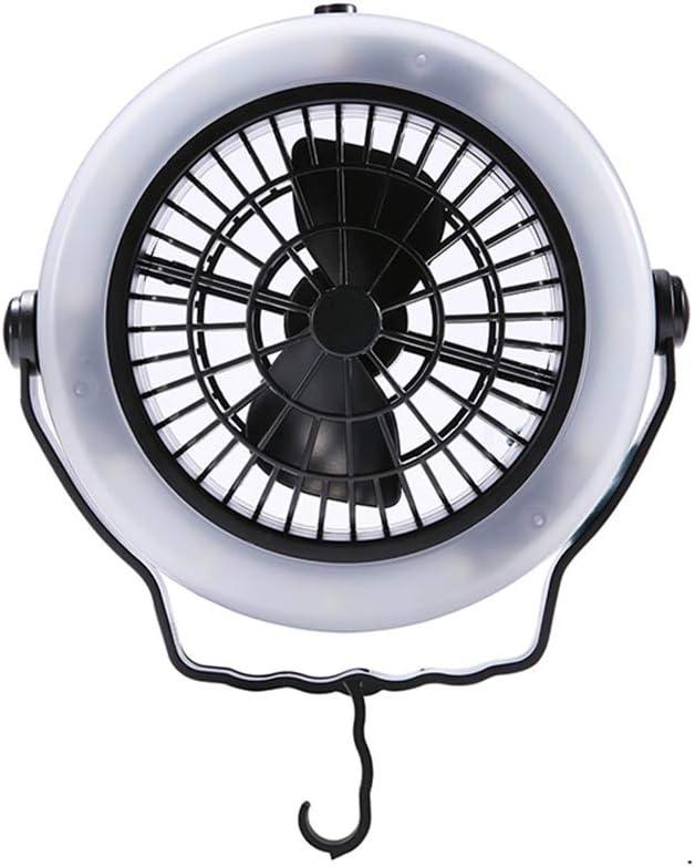 Shumo Led Luz del Ventilador De La Tienda Equipo De Engranaje De Senderismo Camping Lampara De Techo Portatil Al Aire Libre Alimentada por USB Equipo De Camping: Amazon.es: Deportes y aire libre