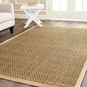 Amazon Com Hand Woven Natural Beige Seagrass Rug 8 X