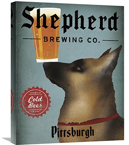 Global Gallery Ryan Fowler, German Shepherd Brewing Co Pittsburgh' Stretched Canvas Artwork, 20 x 24