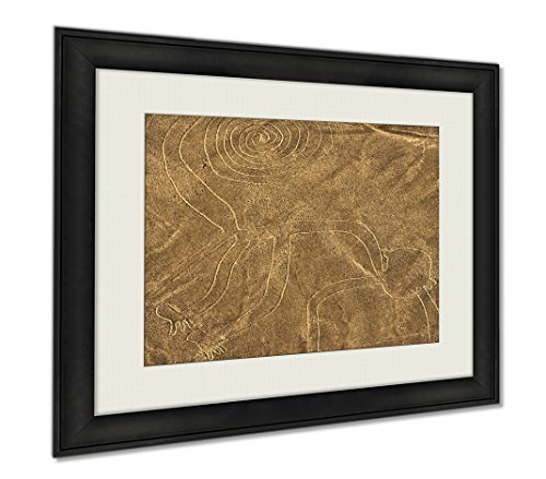 Ashley Framed Prints Nazca Lines Monkey, Wall Art Home Decoration, Color, 26x30 (frame size), AG5906371 by Ashley Framed Prints