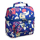 J World New York Kids' Corey Lunch Bag Backpack, Petals, One Size