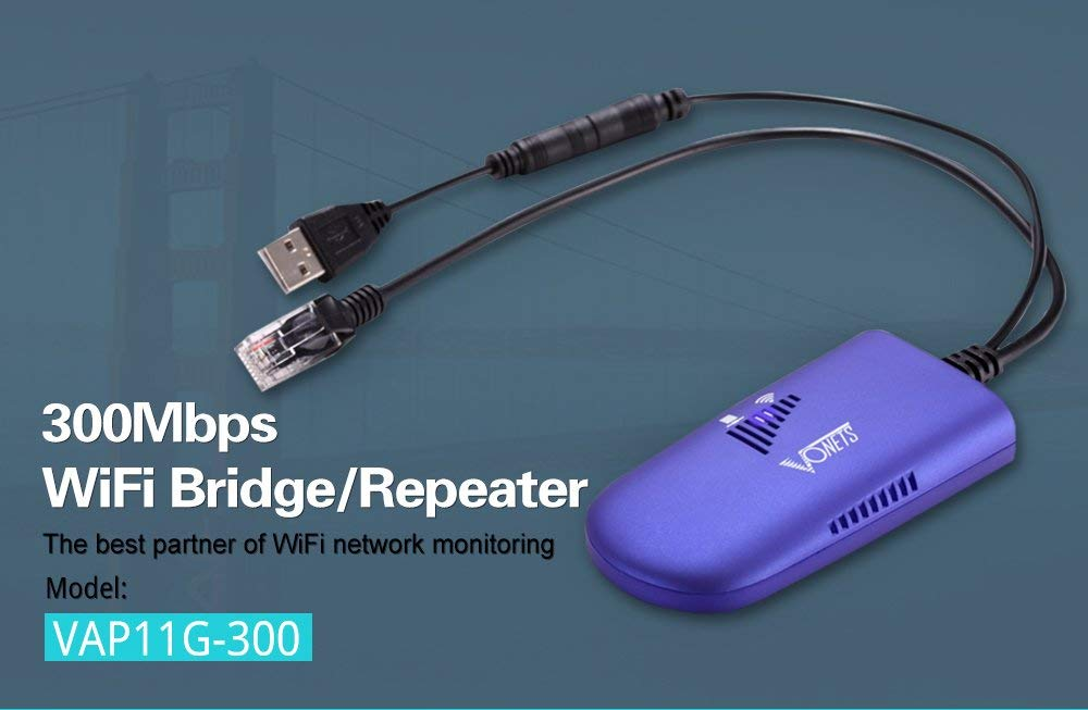 300 C/âble de Pont WiFi Convertir Un Port Ethernet RJ45 en r/ép/éteur de dongle sans Fil WiFi AP Amplificateur de Signal Multifonctionnel AP Podazz VAP11G
